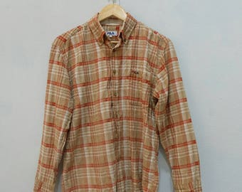 FILA Button Up Casual Shirt Rare!!