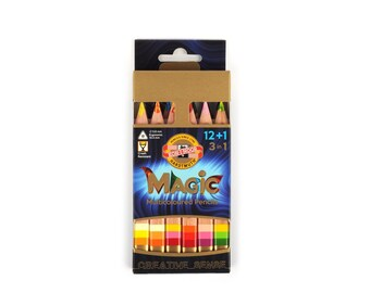 Magic crayon colored pencils set 3404 jumbo triangular KOH I NOOR drawing coloring multicolored special new art kids