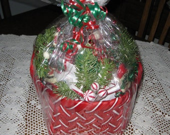 Candy Cane Gift Basket