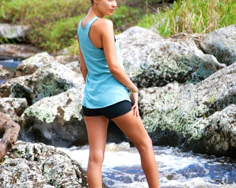 Yoga Layering Racerback Tank Top for Women - USA Grown Organic Cotton Jersey -  Organic Clothing