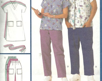 BUTTERICK PATTERN 4946 hospital and doctor scrubs, sizes extra small, small, and medium, unisex for both men and women, new and uncut