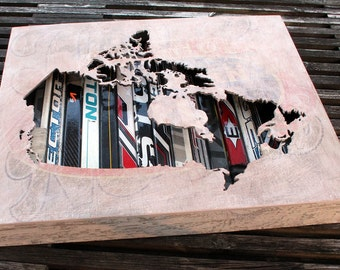 """Undefended: 22 x 18"""" Canada Map Shadow Box"""
