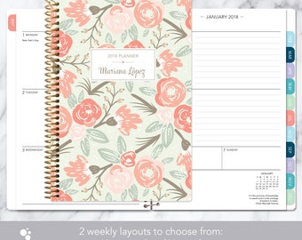 monthly planner with tabs