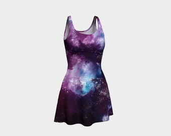 NEBULA   Flared Dress Women Teen Clothes Clothing Wearable Art Reversible XS-S-M-L-XL