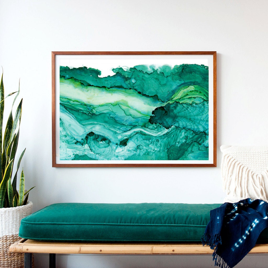 undercurrent emerald ink framed art print ocean art surf. Black Bedroom Furniture Sets. Home Design Ideas