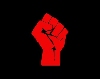OWS / 99 Percent / Power / Solidarity / Occupy / Raised Fist / Mic Check - Vinyl Iron On