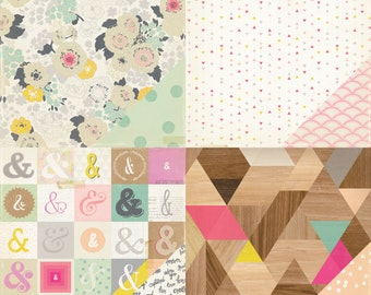 SALE!!! Notes & Things Paper Pack from Crate Paper - 8 Sheets