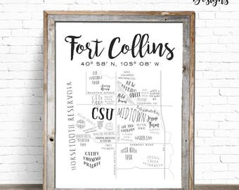 FOCO Map | Fort Collins Art Print