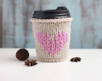 Coffee lover cute gift Coffee cup cozy Best gift for teachers Crochet cozy gift Coffee cup sleeve Eco friendly crochet gift Crochet cup cozy