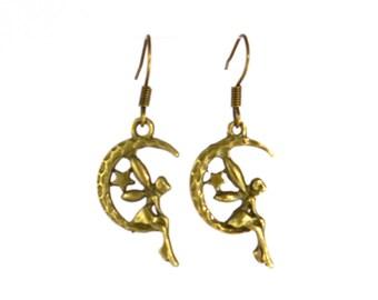 Fairy Earrings - Bronze - Earrings - Moon