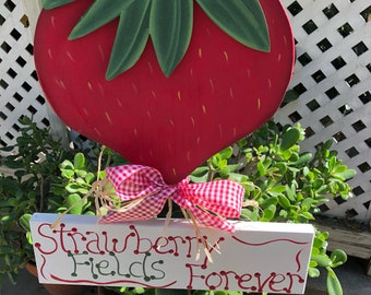 Strawberry Fields Forever Garden Stake
