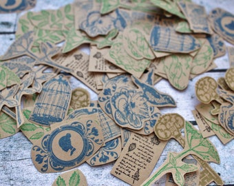 30 Mix stamp die cuts, embellishments