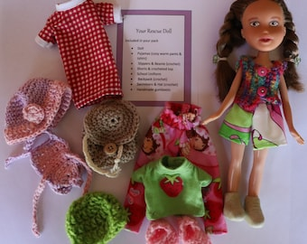 Rescue Doll with multiple outfits, OOAK Doll, Made under