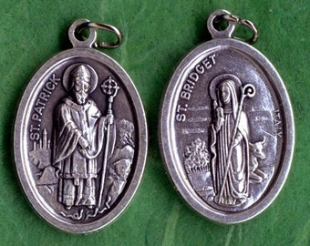 Reversible Saint Patrick & Saint Bridget Medal - Package of 3 Medals