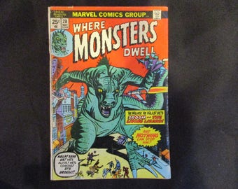 Where Monsters Dwell #28 Marvel Comics 1974