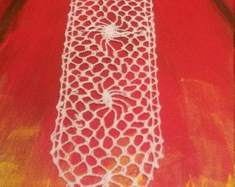 lace bookmark (Maltese lace made by my lovely mother Adelina from the Maltese Islands)
