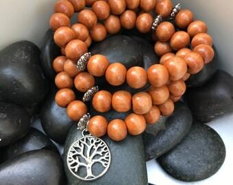 Wood Bead Wrap Bracelet