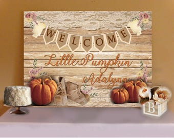 RUSTIC LITTLE PUMPKIN Baby Shower ...