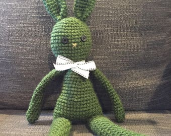 Hand made crochet bunny. Perfect for kids of all ages