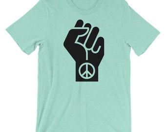 Black Live Fist T-shirt CND Peace Protest