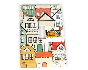 Single Switch Plate Light Switch Cover in Neighborhood (266S)