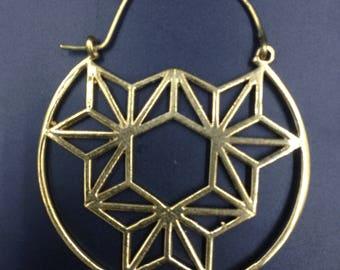 Original gypsy brass hoops.