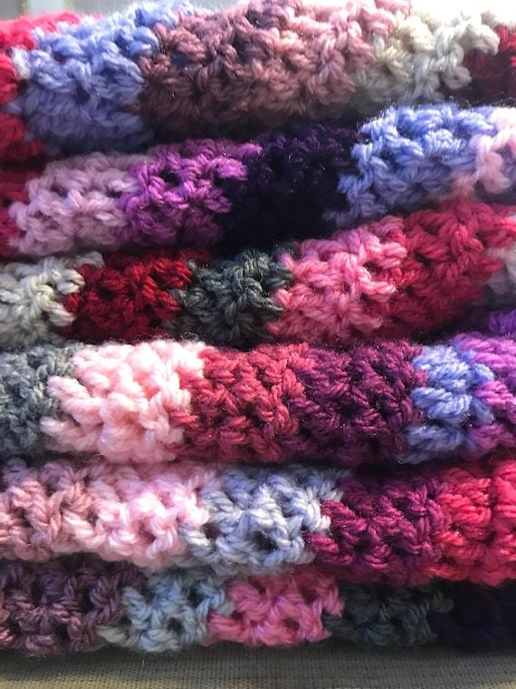 afghanische Häkeln Häkeln afghanischen Berry Farben