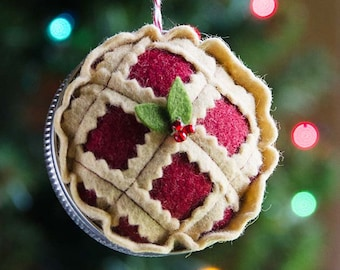 Christmas Pie Ornament PDF PATTERN
