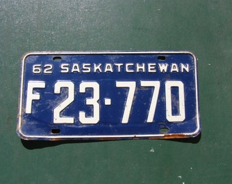 1962 Saskatchewan Farm Vehicle License Plate