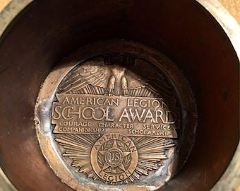 1925 American Legion School Award Brass and Copper Handle Cup