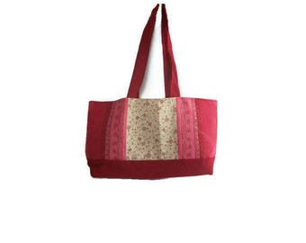 Small red cloth bag