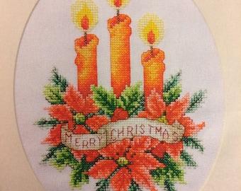 Christmas Candlelight Cross Stitch Patttern