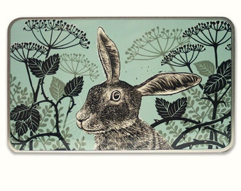 Quirky Hare metal, tin keepsake box, perfect present, gift, Christmas, birthday