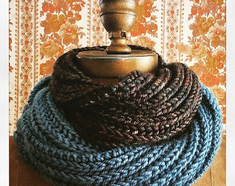 Cowl Infinity Scarf Knitting Pattern Convertible Instant PDF Download Easy Quick Knit Pattern Gift Idea