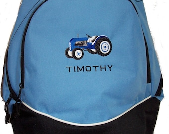 FREE SHIPPING - PERSONALIZED Farm Tractor Backpack Book Bag  monogrammed New