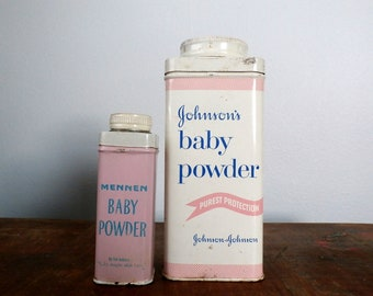 Vintage Baby Powder Tins