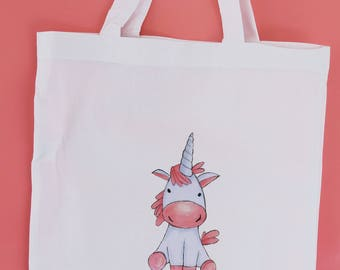 Tote Bag with Unicorn