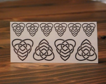 Temporary Tattoo/Celtic Motherhood and Child Tattoo/Miniature Tattoos/Celtic Tattoo/Custom Tattoos