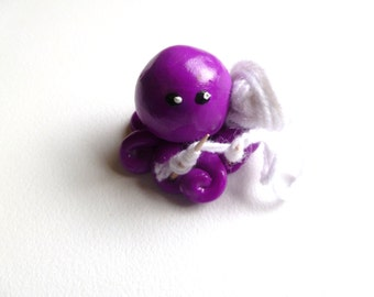 Little Knitting Octopus Mini Marble Friend Shown in Violet Choose you Color