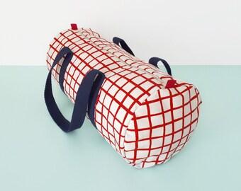 Duffle Bag  Overnight Bag Weekender Bag Womens Weekend Bag Mens Duffle Bags Womens Gym Bag Mens Duffel Bag Handprinted by Olula