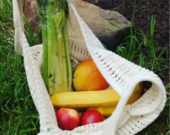 Farmer's Market bag PDF pattern for rigid heddle loom digital download