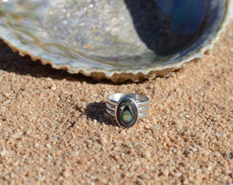 Sterling Silver Abalone | Children of the Sea Ring | Made to Order
