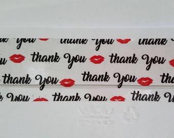 Lipsense Packaging, Lipsense Marketing, Packaging Tape, Lipsense Thank You, Packaging Supply, Lips Tape, Thank You Packing Tape, Lips Print