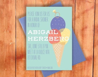 Abigail Ice Cream Bridal Shower Invitation