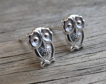 Twit Twoo Sterling Silver Owl Earrings