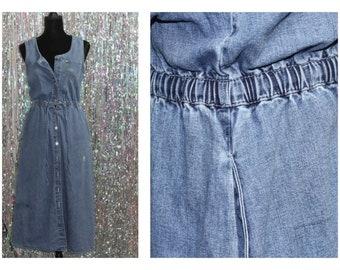 90's  Gloria Vanderbilt Long Denim Dress (S)