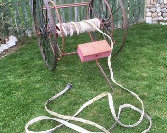 Vintage Wirt & Knox Fire Hose Cart with Fire Hose - Fire Hose Reel, Fire Fighting Collectable, LOCAL PICKUP