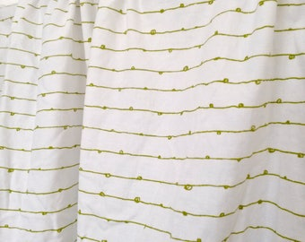 Children's Valance Curtains, Valance, White Valance, Window Valance, White & Lime Window Valance Curtain, Window Valance, White Valances