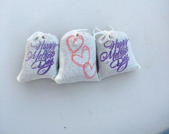 Lavender Filled Cotton Sachet - Just for Mom (1 Set = 3 Sachets)