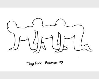 Together Forever (Human Centipede) - Screenprint